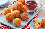 Turkey Croquetas with Cranberry Dipping Sauce