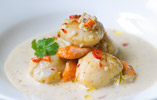 Scallops in Coconut and Chilli Broth