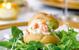 Smoked Salmon and Cheese Profiteroles