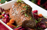 Pot-Roast Silverside of Beef with Cranberry and Port
