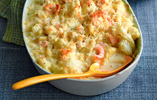 Macaroni and Cauliflower Cheese Bake with Seafood