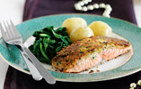 Salmon Fillet with a Horseradish Crust