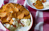 Cauliflower Cheese and Sweet Potato Hotpot
