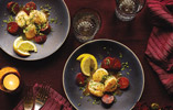 Seared Scallops with Lemon and Chorizo