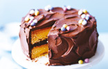 Lemon Cake with Chocolate Frosting