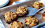 Stuffed Garlic and Herb Mushrooms