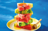 Watermelon and Honey Stack