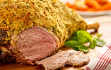 Leg of Lamb with Lemon, Mint and Feta Crust