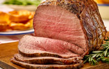 Roast Beef with Shallots and Horseradish Yorkshire Puddings