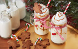 Salted Caramel Eggnog with Mini Gingerbread Men