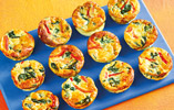 Spinach and Red Pepper Egg Muffins