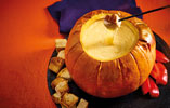 Witches Cauldron Roasted Pumpkin Cheese Fondue