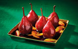 Spiced Pears Cooked in Mulled Wine with Orange