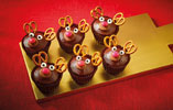 Pretzel and Chocolate Reindeer Cupcakes