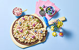Chocolate Popcorn Pizza