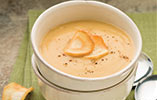Parsnip and Toasted Cumin Soup with Parsnip Chips