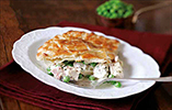 Chicken, Ham and Pea Pie