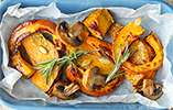 Roasted Pumpkin with Mushrooms