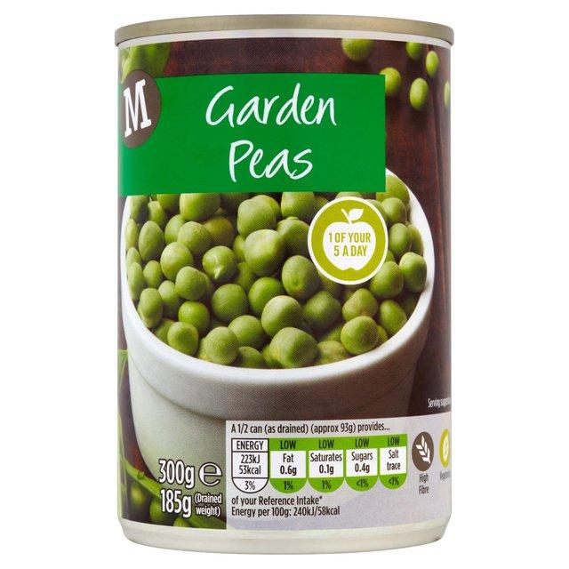 Morrisons Morrisons Garden Peas 300g 185gProduct Information
