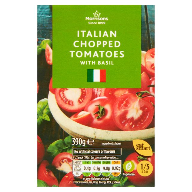 Morrisons Italian Chopped Tomatoes with Basil