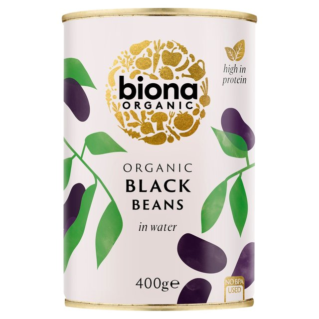 Biona Organic Black Beans in Water No Added Salt or Sugar (400g)