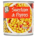 Morrisons Sweetcorn & Peppers in Water (150g)
