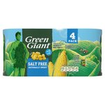 Green Giant Salt Free Sweetcorn (4x198g)