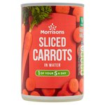Morrisons Sliced Carrots in Water (300g)