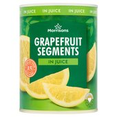 Morrisons Grapefruit Segments in Juice, Drained Weight (540g)