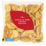 Morrisons Garlic & Herb Potato Wedges