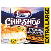 Young's Chip Shop Extra Large Fish Fillets in Beer Batter