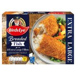 Birds Eye 2 Breaded Extra Large Fish Fillets