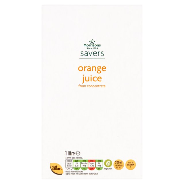 M savers Orange Juice from Concentrate