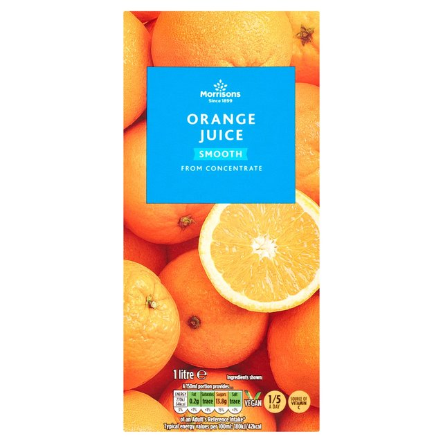 Morrisons: Morrisons Orange Juice From Concentrate Smooth ...
