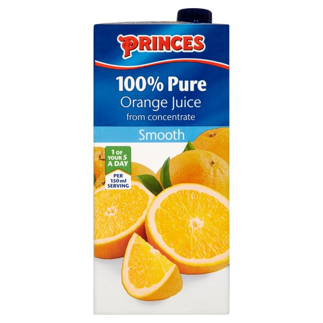 Morrisons princes 100 pure orange juice from concentrate for Wine and orange juice name