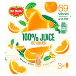 Del Monte 100% Orange Juice Lollies