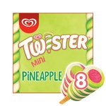 Twister Mini Pineapple, Lemon-Lime and Strawberry Ice Cream Lollies