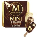 Magnum Mini Classic Almond & White Ice Cream  Sticks
