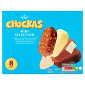 Morrisons Mini Belgian Chocolate-Coated Vanilla Ice Creams