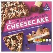 Morrisons Double Chocolate Cheesecake