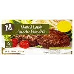 Morrisons 4 Minted Lamb Quarter Pounders