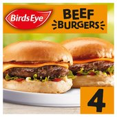 Birds Eye 4 Original Beef Burgers With Onions