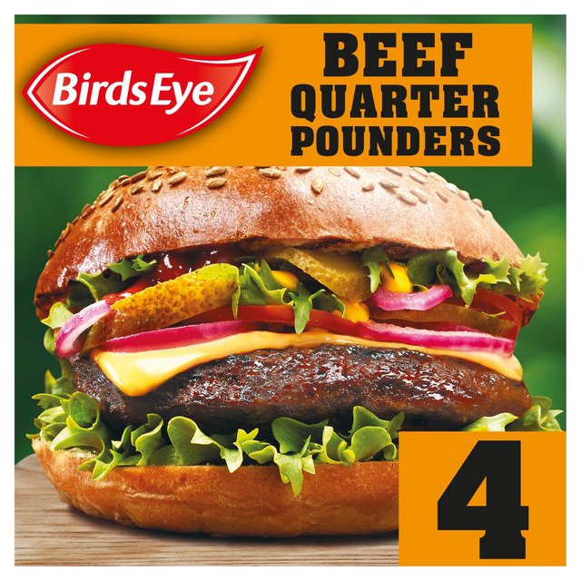 Birds Eye 4 Original Beef Quarter Pounder