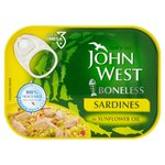 John West Boneless Sardines in Sunflower Oil (95g)