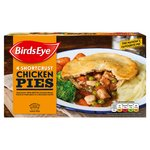 Birds Eye 4 Shortcrust Chicken Pies