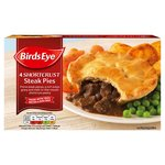 Birds Eye 4 Shortcrust Steak Pies