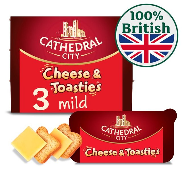 Morrisons: Cathedral City Chedds Cheese & Toasties 3 x 29g ...