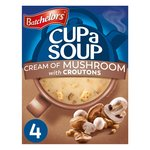 Batchelors Cup a Soup Cream of Mushroom with Croutons 4 Sachets