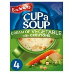 Batchelors Cup a Soup Cream of Vegetable with Croutons 4 Sachets