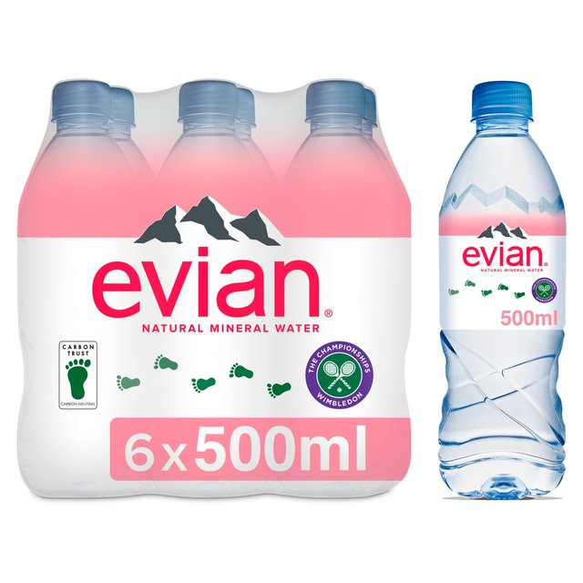 1 liter evian bottle - 1 4